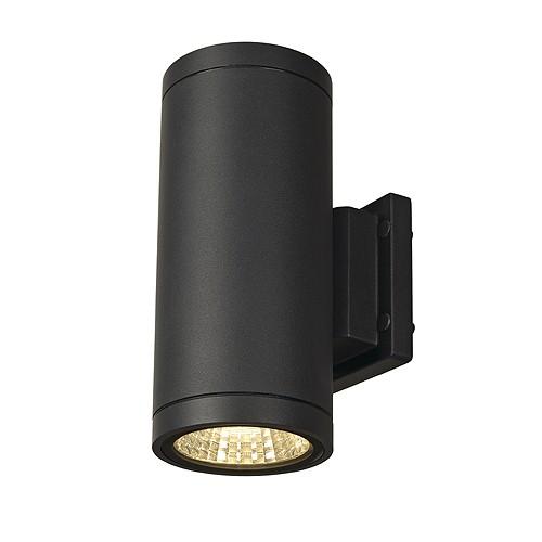 SLV ENOLA_C OUT UP-DOWN Wand- leuchte, rund, anthrazit, 9W LED, 3000K