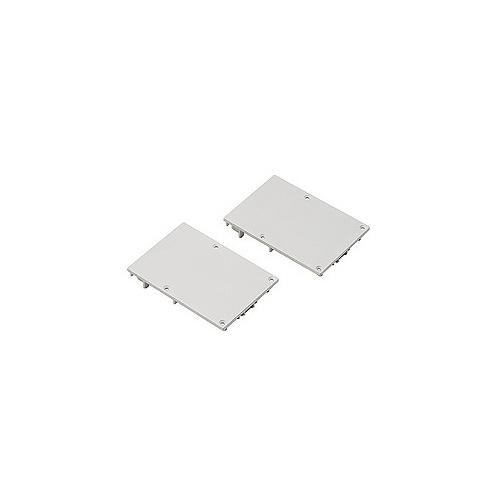 SLV Endkappe für GLENOS ALU-PROFIL mit Cover, mattweiss, 2 Stück