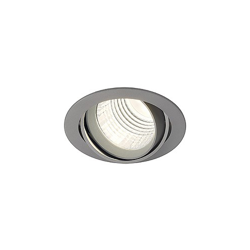 SLV NEW TRIA DLMI ROUND Downlight, silbergrau, 4000K, 60°