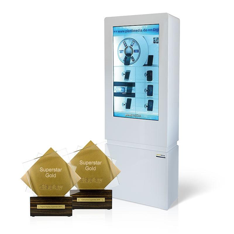 PlentiMedia 42 Zoll LCD POS Transparent Showbox Touchscreen Digital Signage Video Vitrine