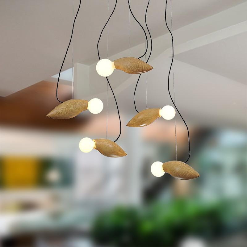 GaGa Lamp Design WAN CHAI Deckenleuchte Holz 40W E27
