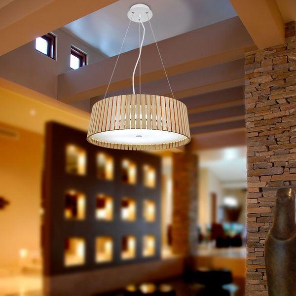 GaGa Lamp Design CAUSEWAY Deckenleuchte XL Holz 40W ESP T5