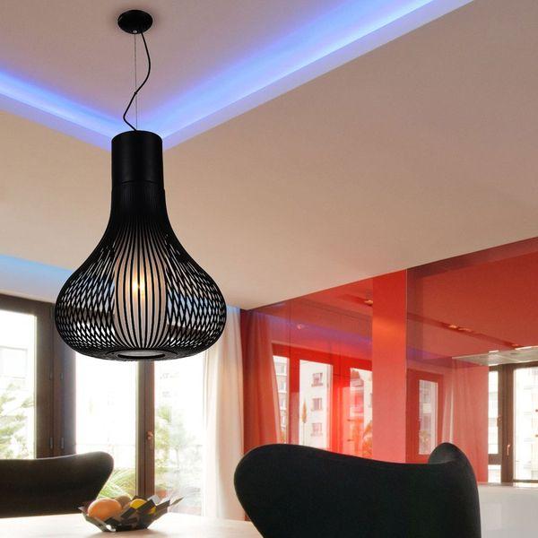 GaGa Lamp Design LO WU Deckenleuchte Skulptur XL Edelstahl 60W E27