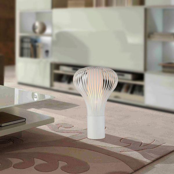 GaGa Lamp Design QUIRL Tischleuchte Skulptur L Edelstahl 60W E27