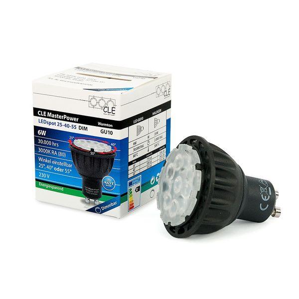 CLE Master Power LEDspot 6W GU10 3000K 230V 25-40-55Grad DIM