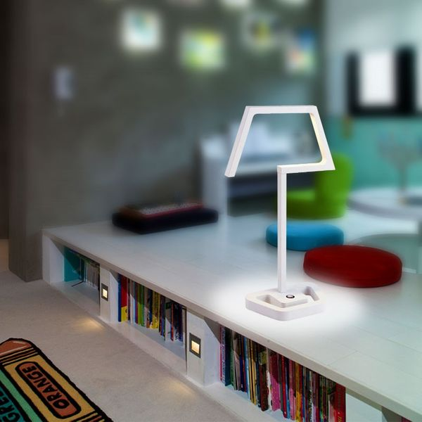 Gaga Lamp Design QUARRY BAY Tischleuchte weiß 18x0,3W LED