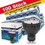 100x CLE Master Power LED 6W GU10 3000K 230V 25-40-60° DIM