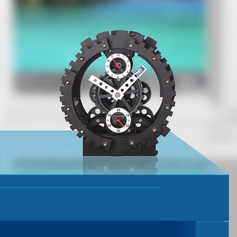 Gagatime Germany Double Gears Tischuhr - Zahnrad Uhr