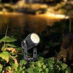 CLE LED 3W Erdspieß Strahler Nautilus schwarz mit 3m Kabel Schukostecker