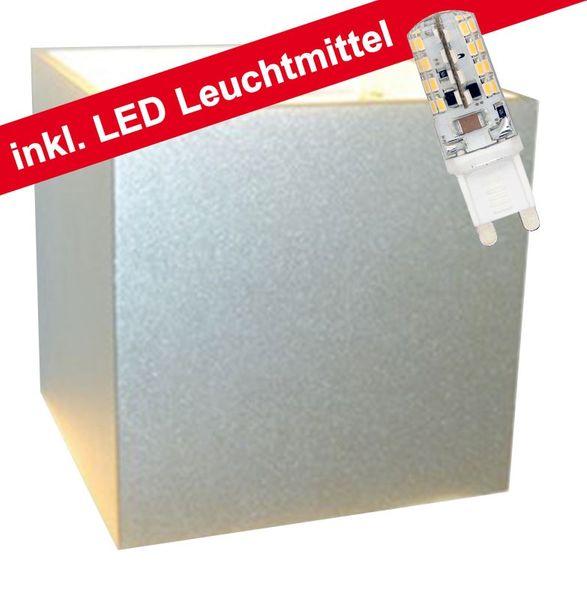 CLE LED Wandleuchte Box 3 3W G9 230V alu