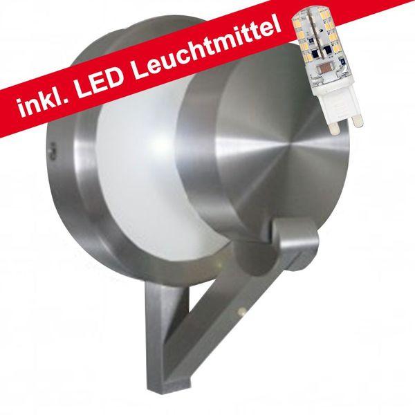 CLE LED Wandleuchte ALUTEC 3W G9 230V alu