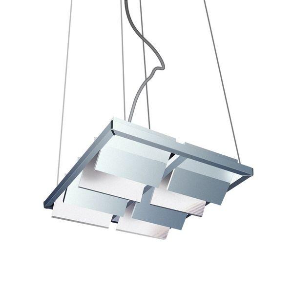 Gaga Lamp Design LED Hängeleuchte Quattro 4 4x 3W G9 230V silber grau Bild 3
