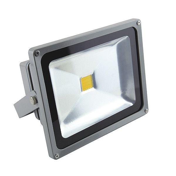 CLE LED Flutlichtstrahler alugrau 50W 3000K warmweiß