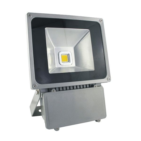 CLE LED Flutlichtstrahler alugrau 70W 3000K warmweiß