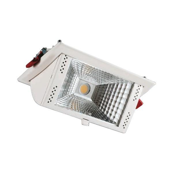 CLE LED Einbauleuchte WEISS 35 W 3000K  2850 Lumen inkl. Treiber