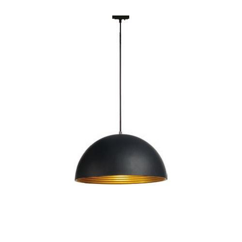 SLV FORCHINI M Pendelleuchte, 40cm, rund, schwarz/gold, E27, inkl. schwarzem 1P.-Adapter