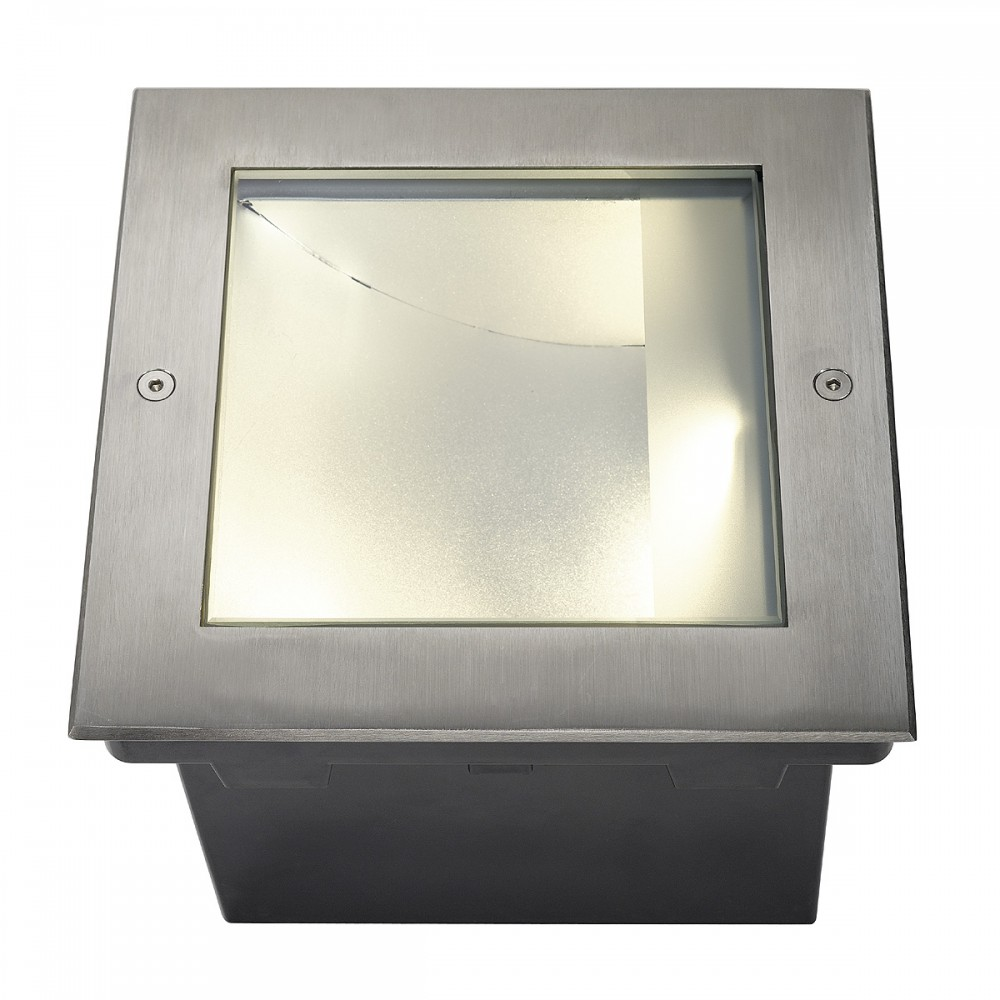 SLV DASAR LED SQUARE Bodeneinbauleuchte, asymmetrisch, Edelstahl 316, 34W, 3000K