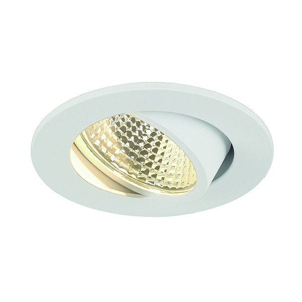 SLV NEW TRIA 3W LED DL ROUND Set, Downlight, mattweiss, 38°, 3000K, inkl. Treiber, Clipfed.