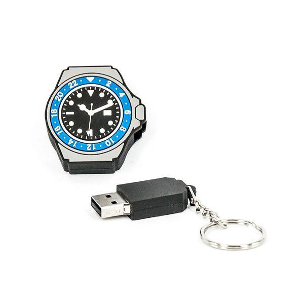 R.L.X. MINI USB UHR WATCH 8GB GMT MASTER II SCHWARZ BLAU GADGET GESCHENK TIPP NEUHEIT