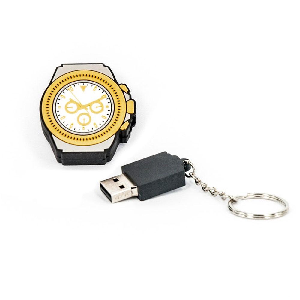 R.L.X. MINI USB UHR WATCH 8GB WEISS GOLD DAYTONA GADGET GESCHENK TIPP NEUHEIT