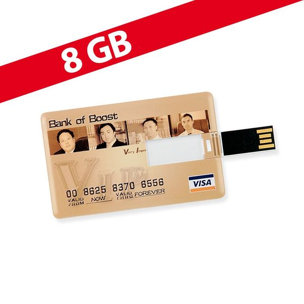 8 GB Speicherkarte in Scheckkartenform Bank of Boost VISA USB – Bild 1