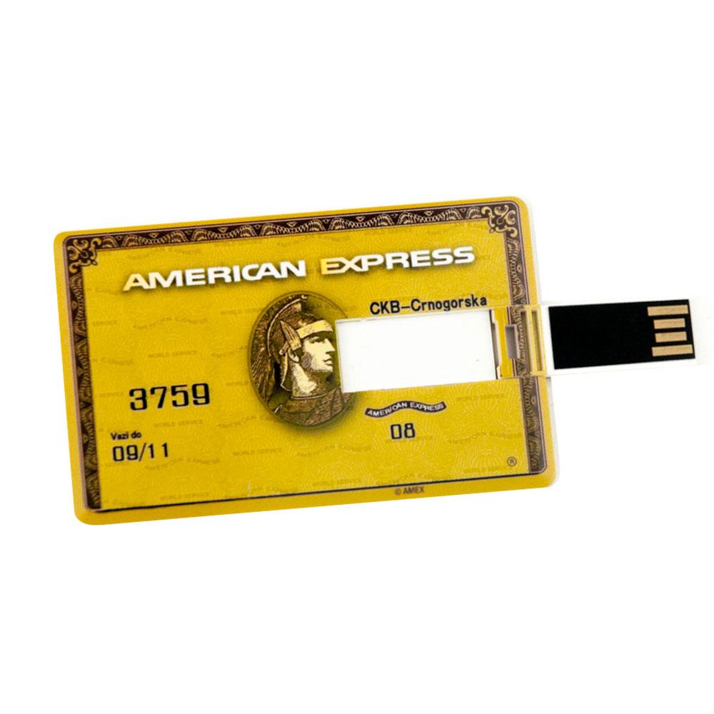 32GB Speicherkarte in Scheckkartenform American Express gold USB Speicherstick