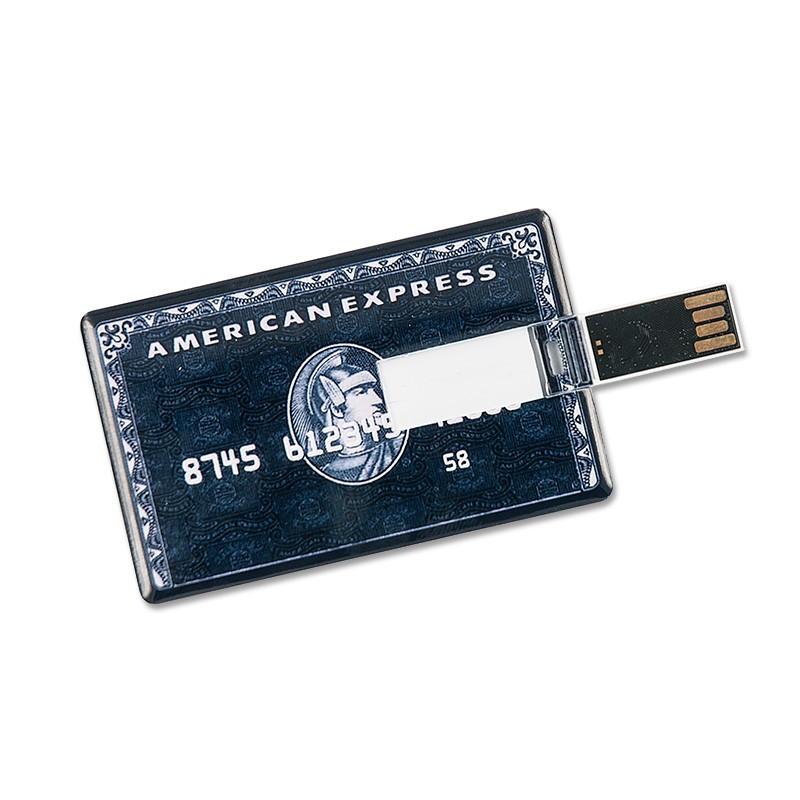 16GB Speicherkarte in Scheckkartenform American Express schwarz USB Stick