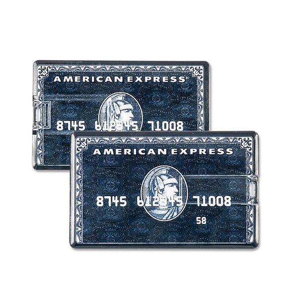 16 GB Speicherkarte in Scheckkartenform American Express schwarz USB – Bild 2