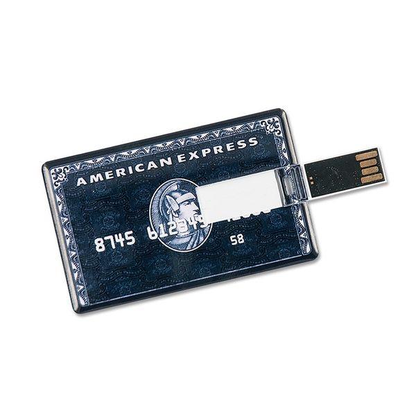 16 GB Speicherkarte in Scheckkartenform American Express schwarz USB – Bild 3