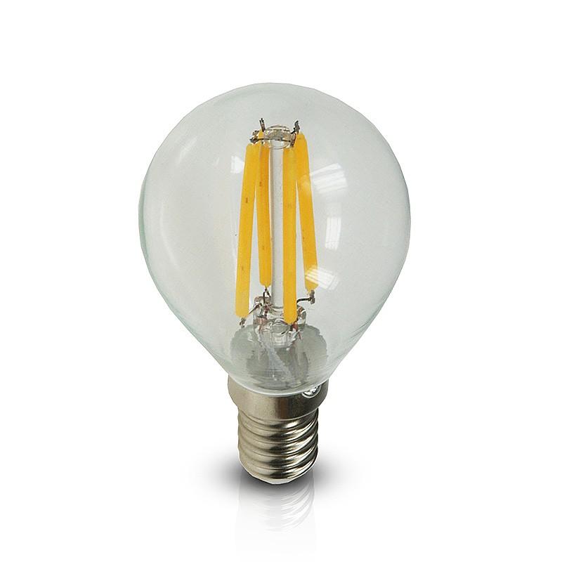 ChiliTec LED Tropfen Glühlampe 4W-40W E14 Filament Glühfadenlampe klar warmton