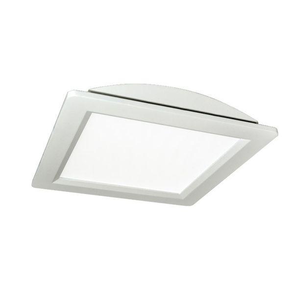 CLE 15W LED Panel 200 EINBAULEUCHTE Super Flat Quadro 2 eckig weiss 4200K – Bild 1