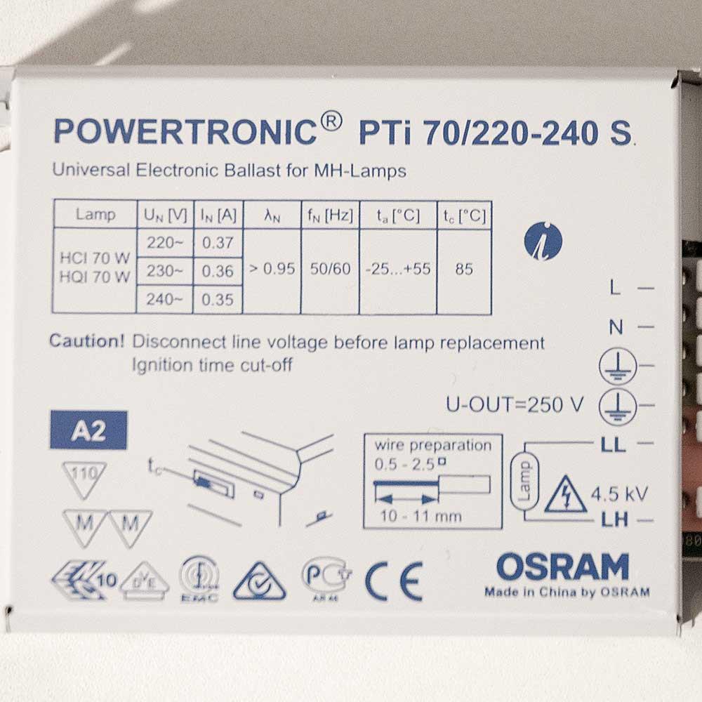 Osram EVG Powertronic PTI 70W 220-240 S Elektronisches ...