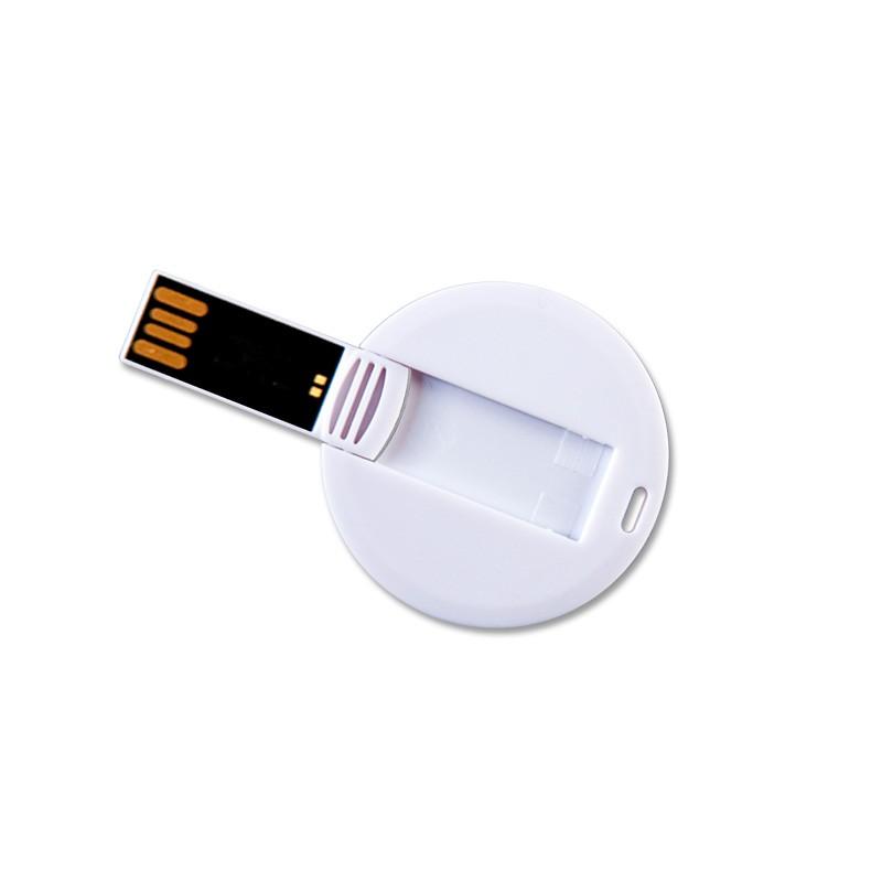 16GB Speicherkarte in Chipform weiß blanko rund USB Stick Datenspeicher Gadget