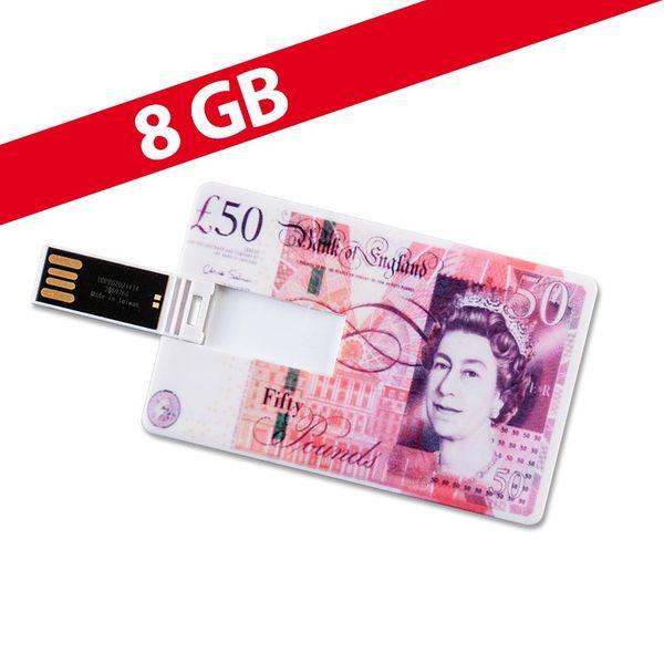 8 GB Speicherkarte in Scheckkartenform 50 Pfund USB – Bild 1