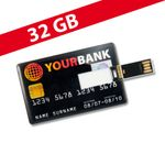 32 GB Speicherkarte in Scheckkartenform Your Bank USB