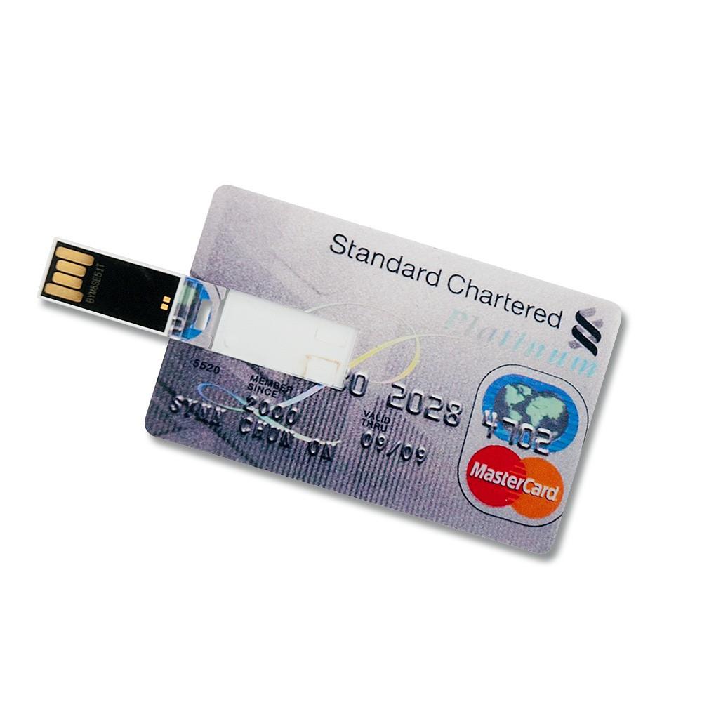 32GB Speicherkarte in Scheckkartenform Standard Chartered Platinum USB Stick