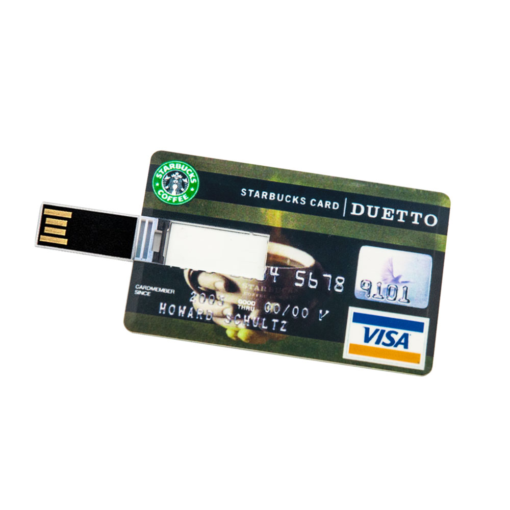 32 gb speicherkarte in scheckkartenform starbucks card usb. Black Bedroom Furniture Sets. Home Design Ideas