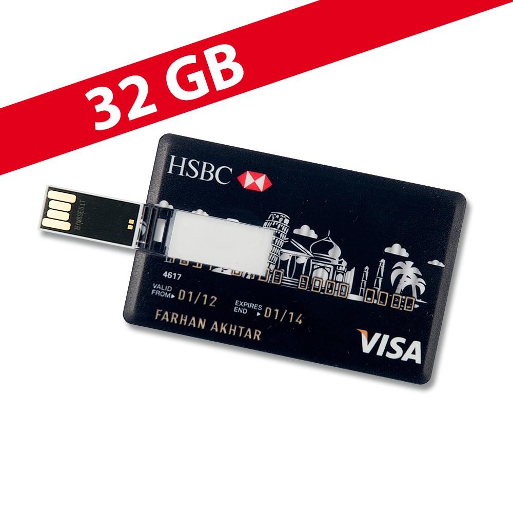 32 gb speicherkarte in scheckkartenform hsbc visa schwarz. Black Bedroom Furniture Sets. Home Design Ideas