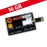 16 GB Speicherkarte in Scheckkartenform Your Bank USB
