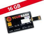 16 GB Speicherkarte in Scheckkartenform Your Bank USB