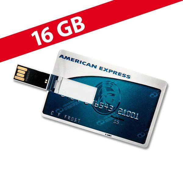 16 GB Speicherkarte in Scheckkartenform American Express Frosted USB – Bild 1