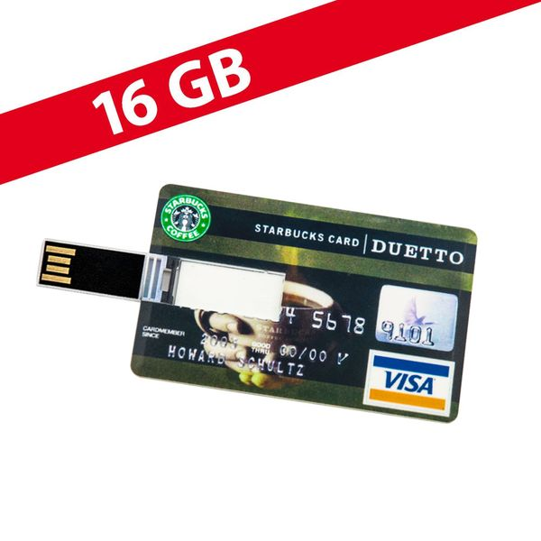 16 GB Speicherkarte in Scheckkartenform Starbucks Card USB – Bild 1
