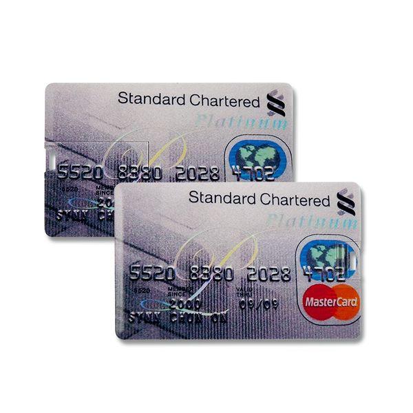 8 GB Speicherkarte in Scheckkartenform Standard Chartered Platinum USB – Bild 2