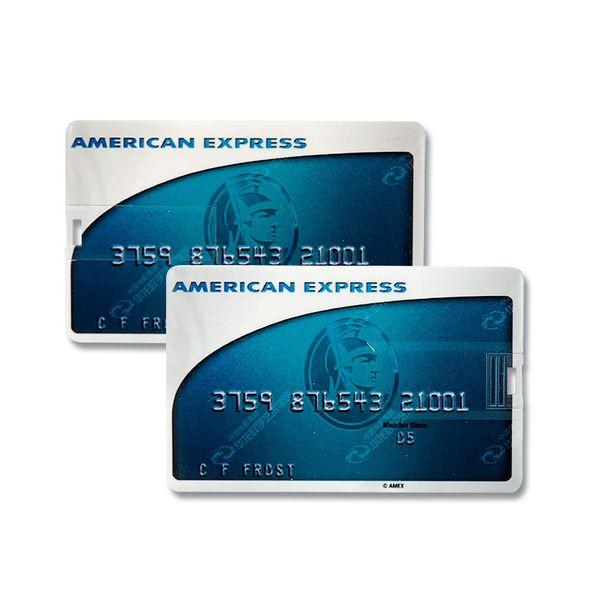 8 GB Speicherkarte in Scheckkartenform American Express Frosted USB – Bild 2