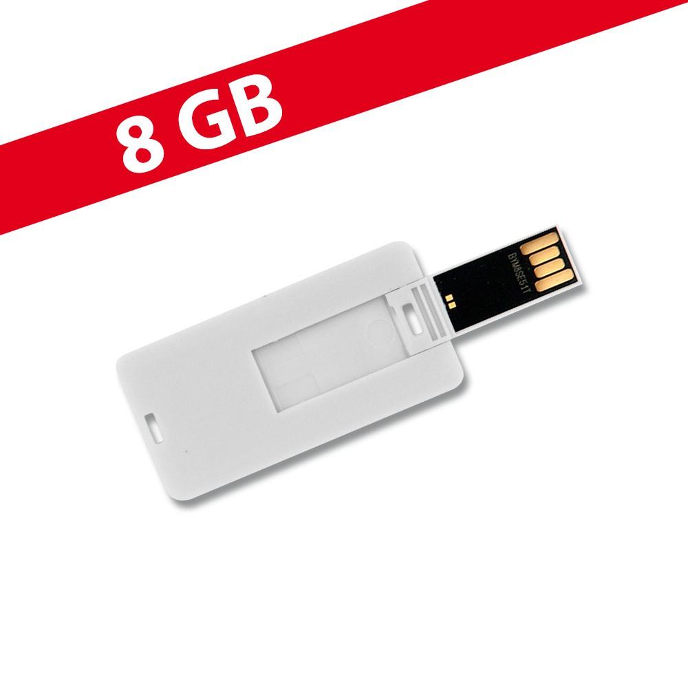8 GB Speicherkarte in Scheckkartenform Mini Weiß USB