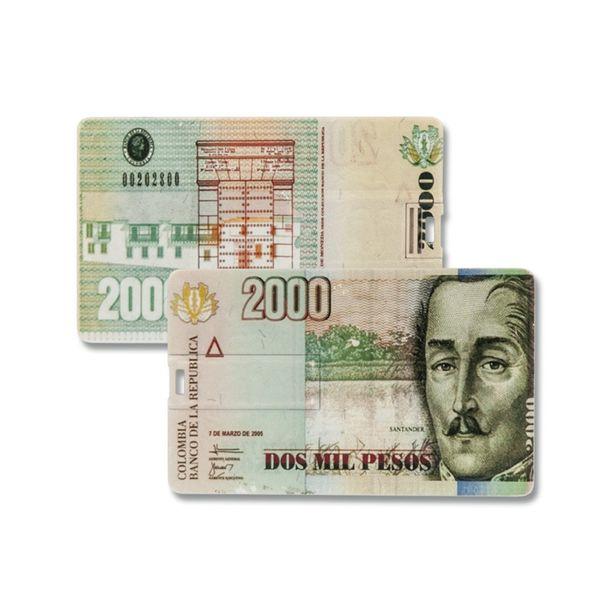16 GB Speicherkarte in Scheckkartenform 2000 Pesos USB – Bild 2