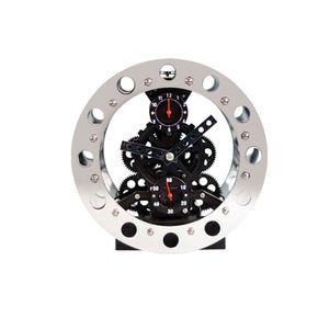 Gagatime Bell Alarm Gear Clock Tischuhr Schwarz