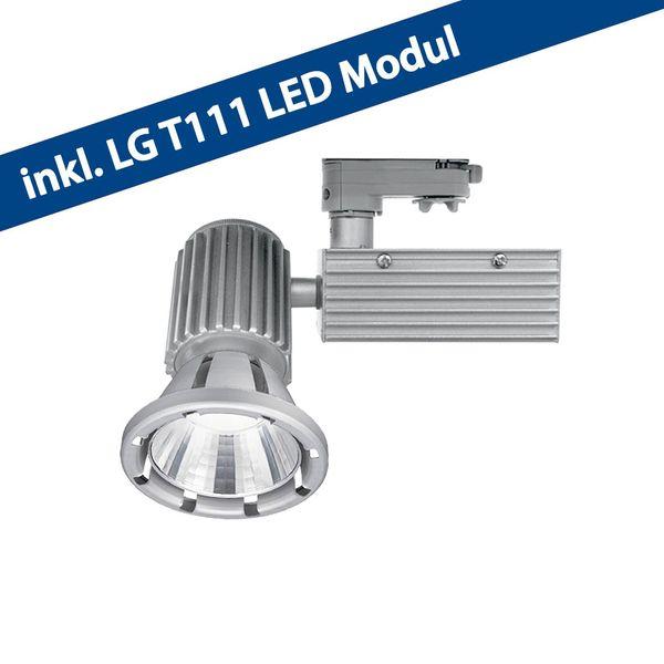 CLE LED Stromschienenstrahler inkl. LG T111 LED 3250lm und Driver alu grau