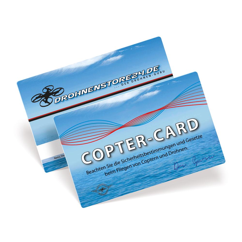 DROHNENSTORE24 Copter-Card Flugkarte für Drohnen und Copter - Geschenk GADGET Flugschein