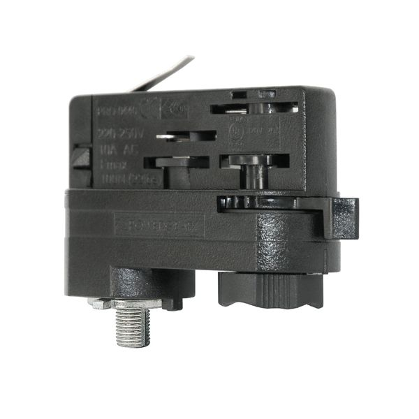UNI 3Ph Stromschienenadapter Adapter schwarz Staff Erco SLV Eutrac Hoffmeister Global Adapter  – Bild 4
